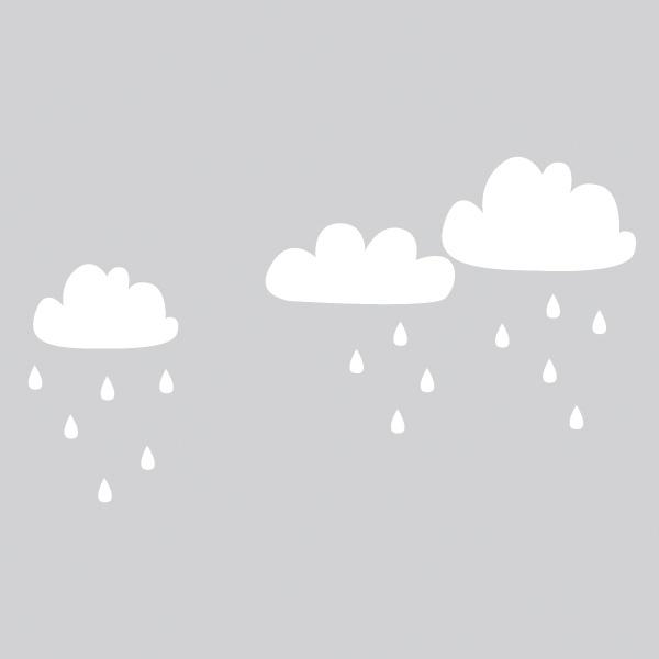 cloudy days sticker set