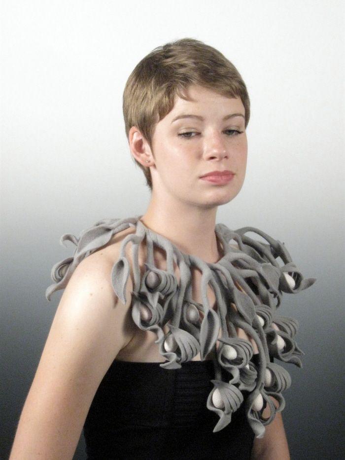 Felt Neckpieces by Lilyana Bekic at Coroflot.com