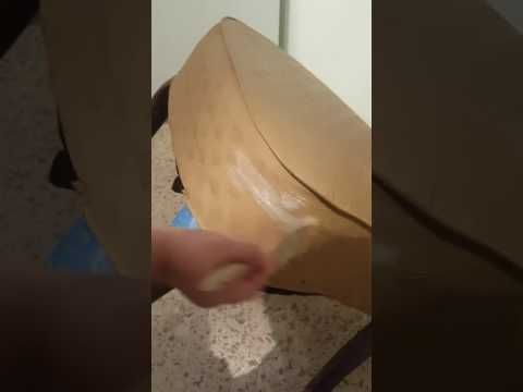 Pintar mueble de tela con pintura chalk y uso del wax - YouTube
