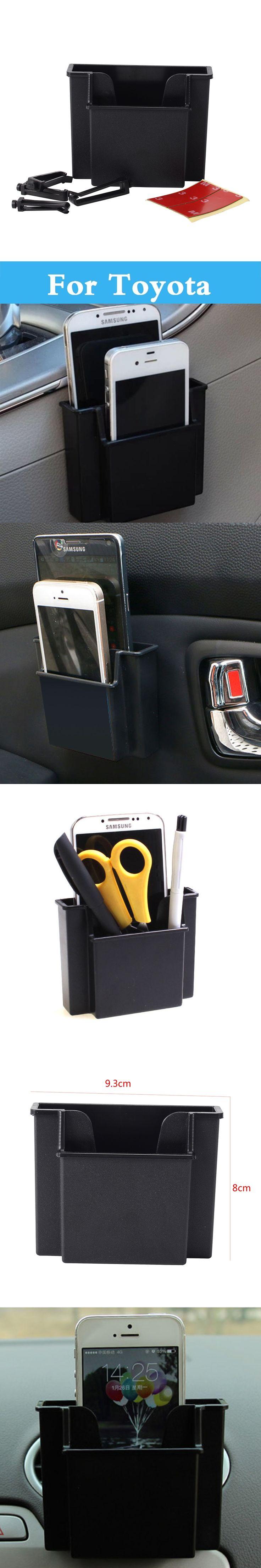Car Storage Pouch Bag Store Phone Charge Box Holder Organizer Box For Toyota Rav 4 Rush Sai Prius Prius C Probox Progres Pronard