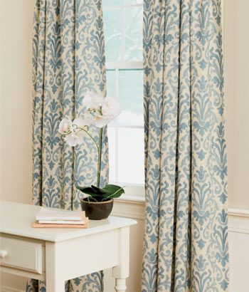 Venetian Brocade Lined Rod Pocket Curtains