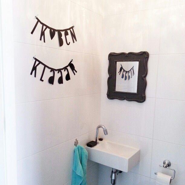 #ikbenklaaar #letterbanner #wordbanner #toilet #kleinstekamertje