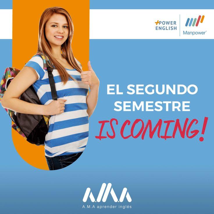 En Manpower English estamos apunto de comenzar nuestro #SegundoSemestre de aprendizaje😉🇺🇸️❤️ ¡#AMA aprender inglés con nosotros! 📚👉https://goo.gl/KtLcmN