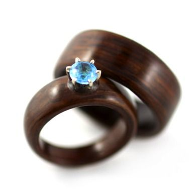 Gorgeous rosewood ring from SimplyWoodRings