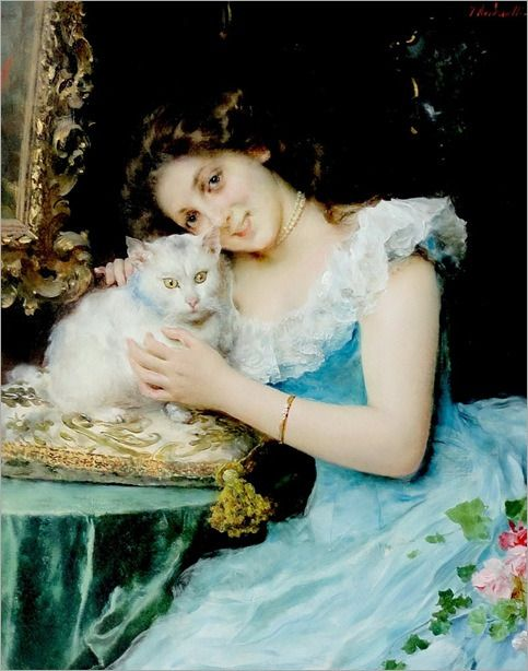 Federico Andreotti (1847-1930, Italian) - THE GREAT CAT