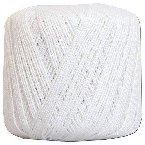 Crochet Thread - SIZE 3 - Color 1 - WHITE - 2 Sizes - 27 ...