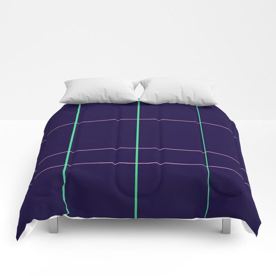 Grid Dimension Comforters by Bravely Optimistic | Society6