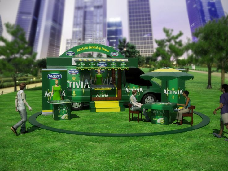 Mobile tasting booth designs for Activia.