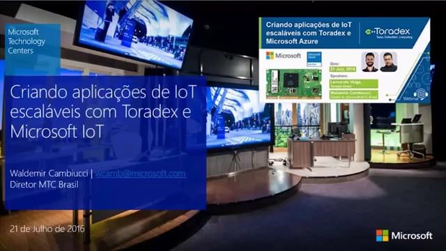 Did you miss attending our previous webinar (in Portuguese) for Creating IoT applications with Toradex and Microsoft Azure? We have recorded the entire session just for you. Watch it now