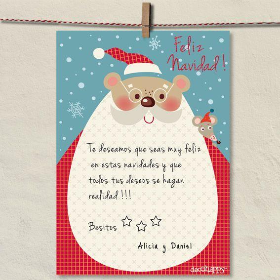 Carta a papa Noel #laminasinfantiles #cuadrosinfantiles #decoracioninfantil
