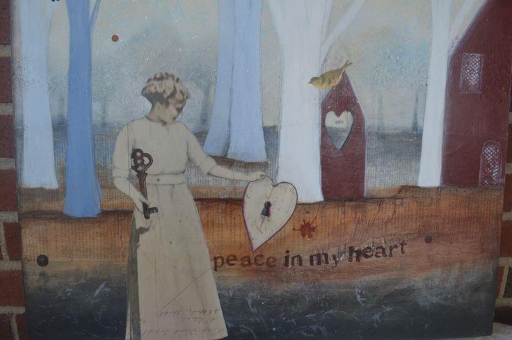 "Piece in My Heart 24"" x 24"""