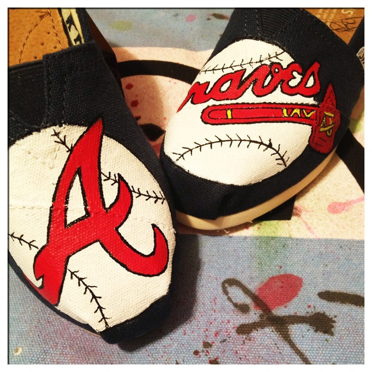 Atlanta Braves Custom Toms Shoes by CustomTOMSbyJC on Etsy Maybe mom can paint something like this for me...