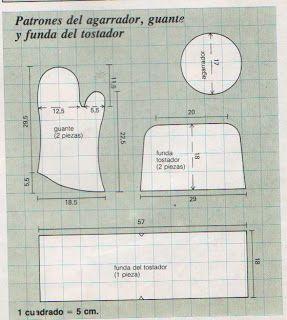 El costurero de Stella, curso gratis: Patrones de un agarrador, guante y funda para un tostador
