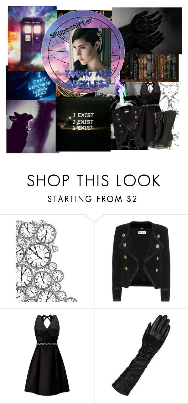 """""""Young and Reckless"""" by crazywriterfangirl90000 ❤ liked on Polyvore featuring Bohemia, Kaisercraft, Yves Saint Laurent, Adrianna Papell, Wilsons Leather, INDIE HAIR, Lauren Ralph Lauren, Young & Reckless, timelord and Demigod"""