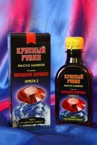Rudý Rubín – 100% lněný olej s extraktem bylin  200ml