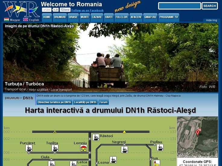 Road DN1H Rastoci - Aleşd 133 km, with many wooden churches and all sights that you can see if you travel on this road http://www.welcometoromania.ro/DN1h/DN1h_Harta_Obiective_e.htm