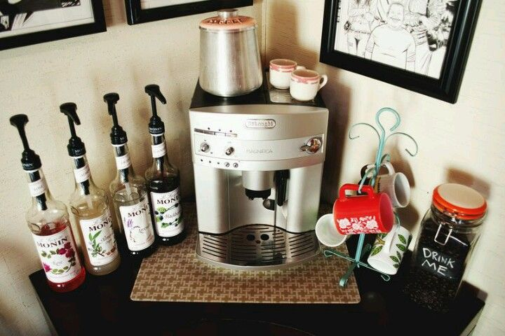 At Home Coffee Bar For The Home Pinterest Syrup Coffee And Home Coffee