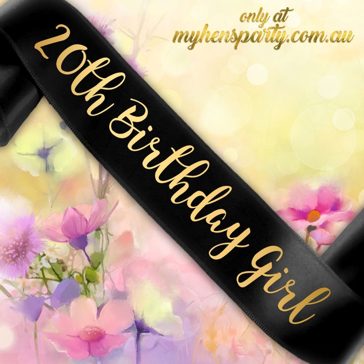 20th Birthday Girl Sash