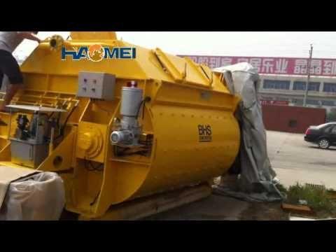 concrete mixer trailer concrete pump display