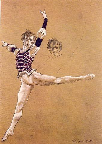 Rudolf Nureyev - Jamie Wyeth Dom Naschokina Art Gallery 1996, 2013