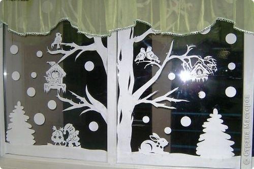 Новогодние вытынанки: украшаем дом силуэтной вырезкой из бумаги