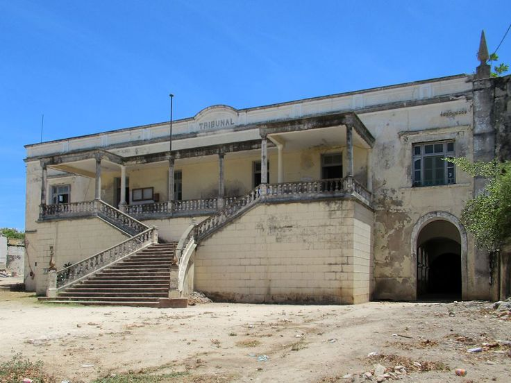The old Portuguese Tribunal still serves as a courthouse on Mozambique Island.