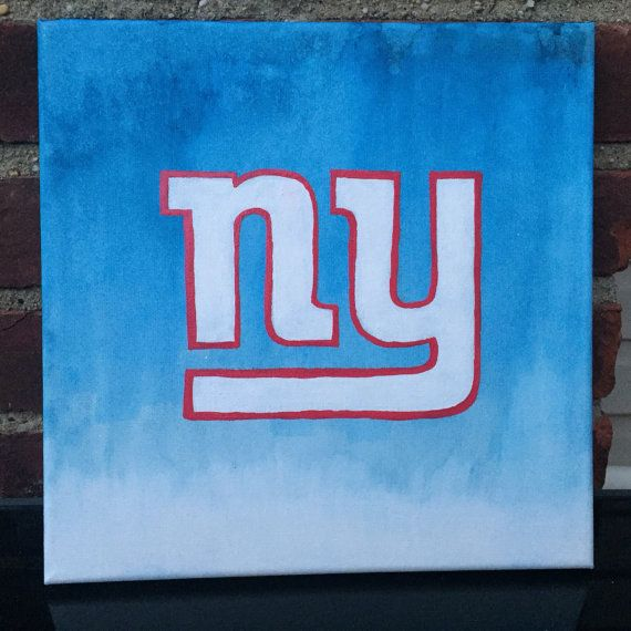 New York Giants logo on 12x12 canvas by DDsCornerShop on Etsy