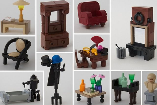 Lego furniture. Love it.  #LegoHouse #InteriorDesign