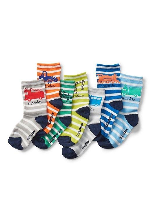 Days Of The Week Socks Gap Baby Truck Days Of The Week Socks 7 Pack Multi