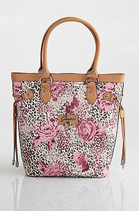 Guess Entangled Medium Carryall, Rose