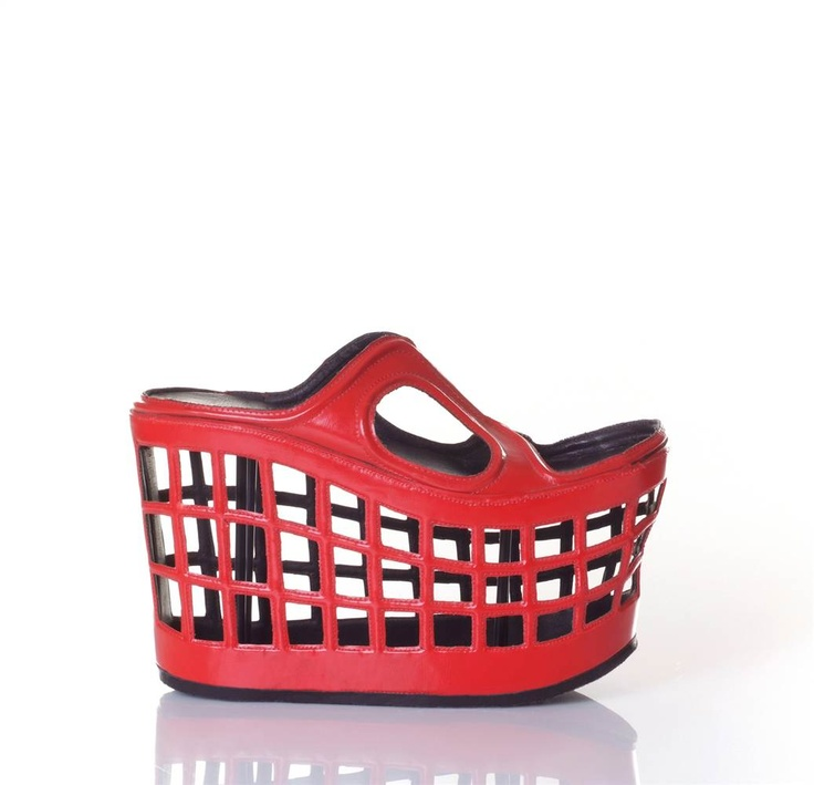 'market' shoe by kobi levi footwear design. 'market' takes the traditional  basket used to collect and carry one's fresh groceries, transforming the  shape ...
