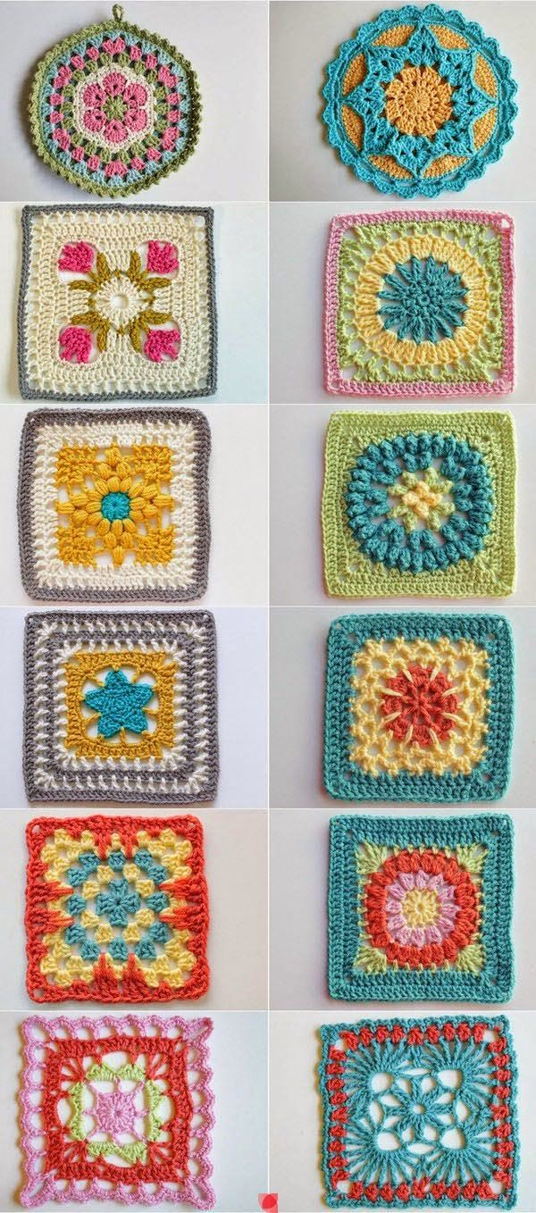 ❤ Crochê - Flores com Motivos -  /  ❤  Crochet - Flowers with Motifs -