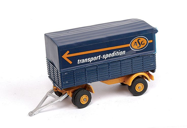 "Vilmer Trailer ""ASG Transport - Spedition"" - blue, yellow including hubs, silver drawbar"