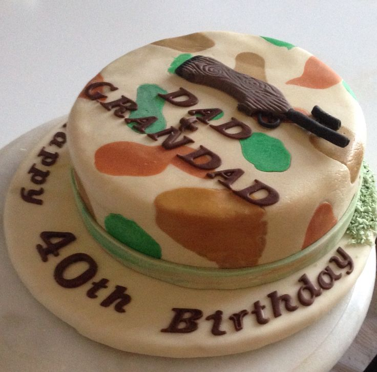 Camouflage Cake With Fondant Icing Not My Best Learn The