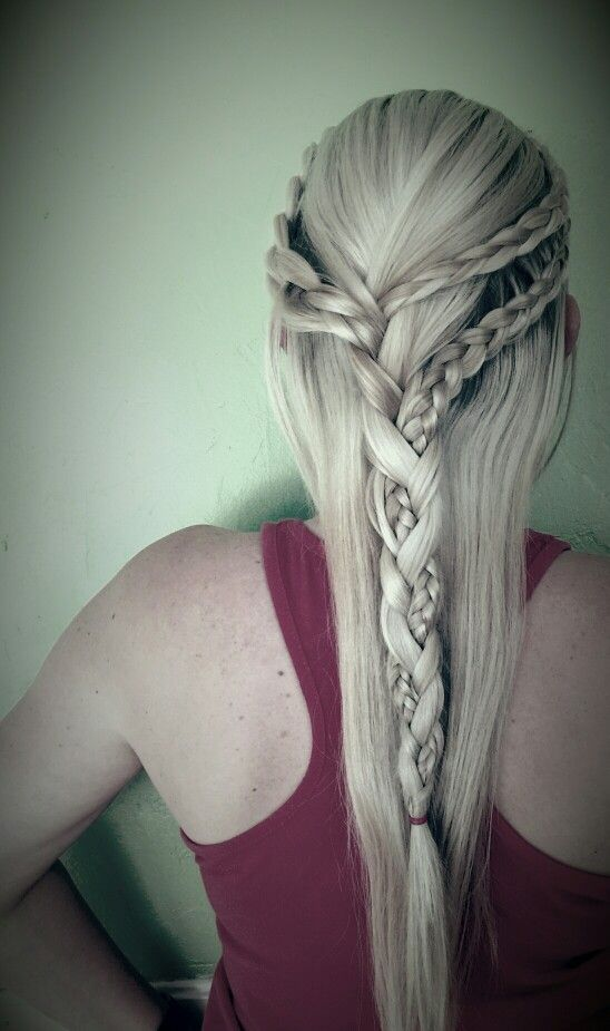 Khaleesi braids! Thank you amber scissors!