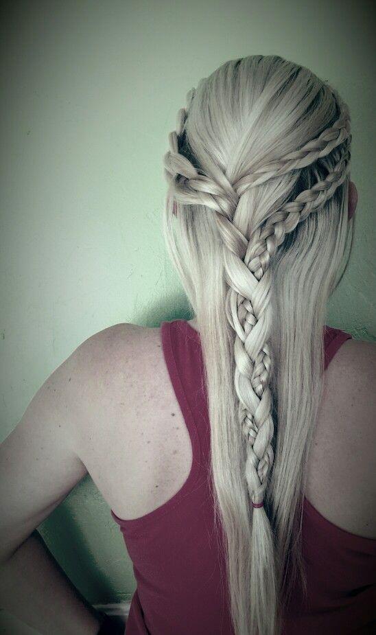 Khaleesi braids! Thank you amber scissors!