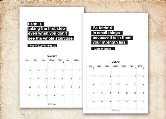 Monthly Calendar Quotations : Calendar black and white quotes quotesgram