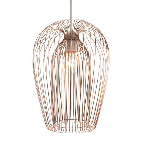 Copper wire hanging ceiling light pendant