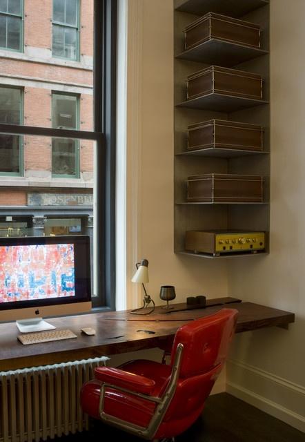 Corner shelves- Small Office