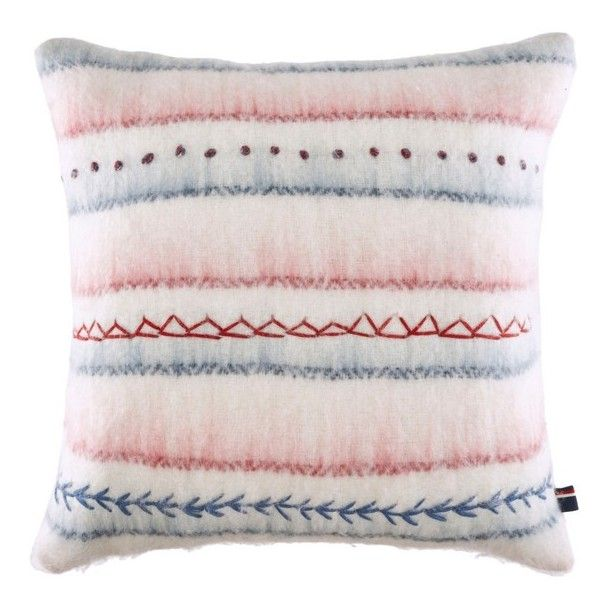 Tommy Hilfiger American Dream Accent Pillow (1 010 ZAR) ❤ liked on Polyvore featuring home, home decor, throw pillows, cream multi, ivory throw pillows, beige throw pillows, square throw pillows, american home decor and cream colored throw pillows
