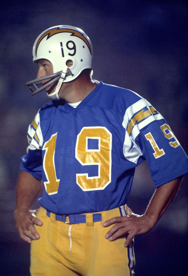Johnny Unitas and Chargers, sorry folks, but, this is a