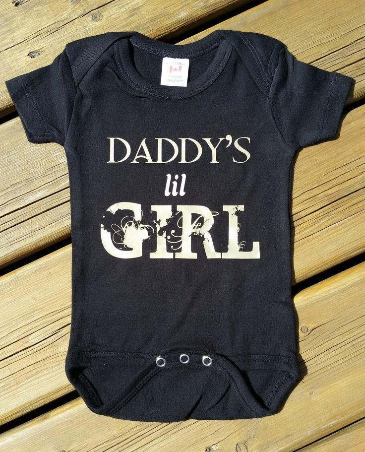 Daddy's Little Girl Newborn Baby Girl Onesie Bodysuit - Baby Shower - Gift for Daddy by OneKinkClothing on Etsy