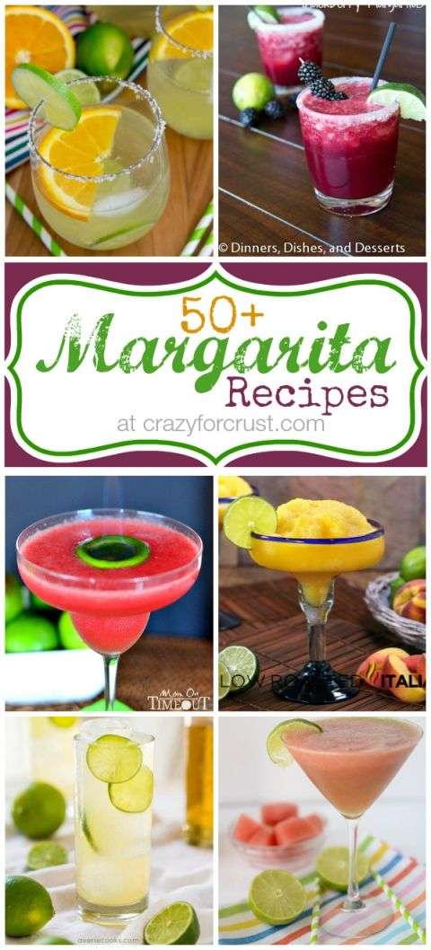 Over 50 Margarita Recipes ~ from traditional to fruity,  from blended to on the rocks