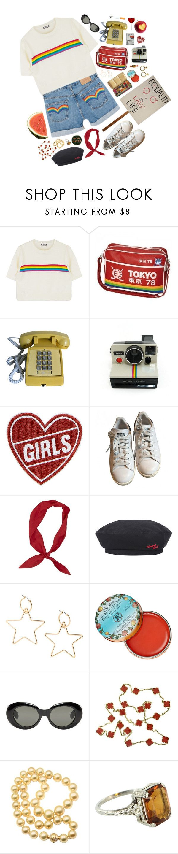 """""""equality matters"""" by pixiekeen ❤ liked on Polyvore featuring Polaroid, adidas, Rosebud Perfume Co., Acne Studios, Candie's, Amy Winehouse, LIST, Van Cleef & Arpels, Forum and Mikimoto"""