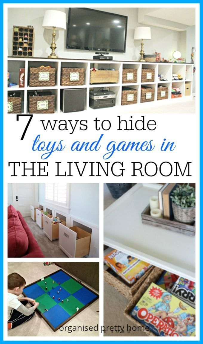 Living Room Toy Storage Ideas Family Friendly Living Room