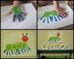 The Very Hungry Caterpillar Handprint Craft (photo only)...