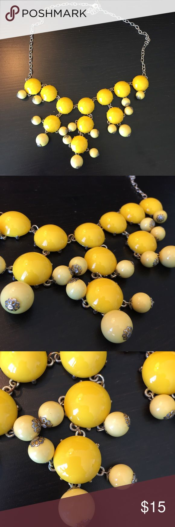 JCrew Bubble Necklace Yellow bubble necklace two toned colored with a bolder yellow and lighter one. J. Crew Jewelry Necklaces