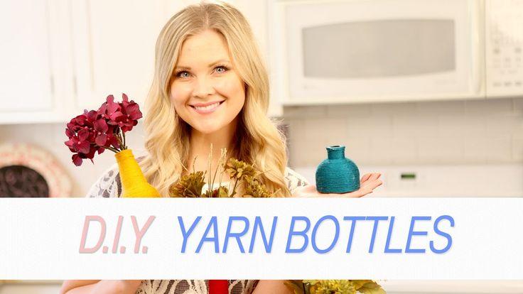 DIY Yarn Bottles! by HeyKayli