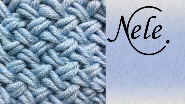 Muster stricken - Flechtmuster - basket weave - criss cross stitch - DIY...