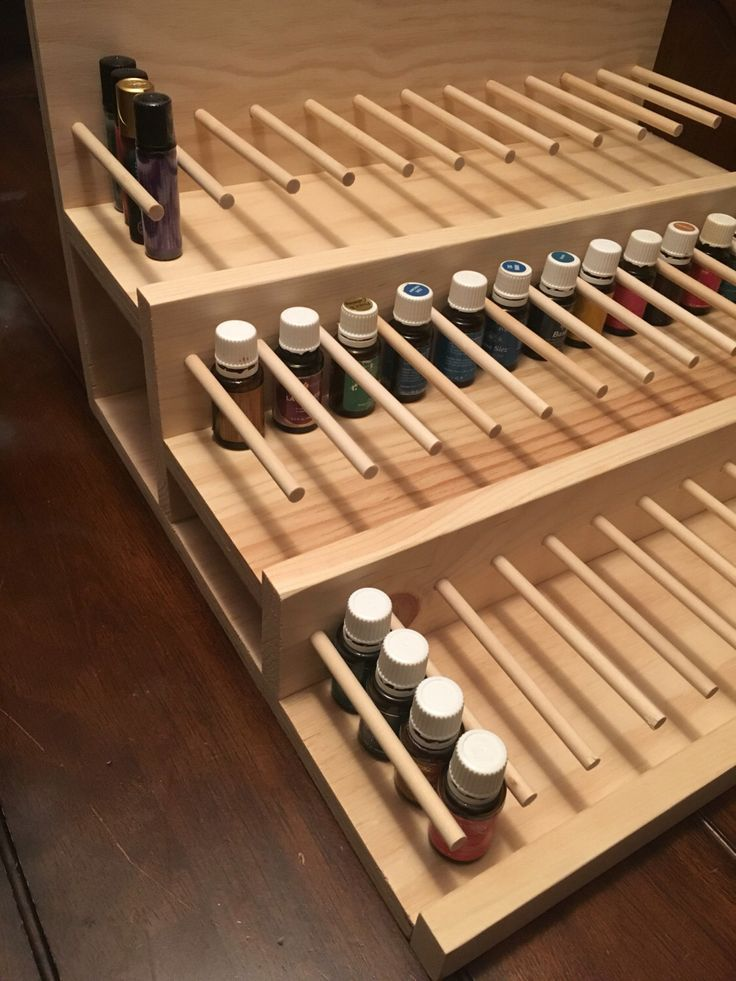 Essential Oil Display, Oil Rack, Retail Display, Shelf, Storage, Boutique,Aromatherapy,retail furniture, make-up, lipstick by TourtillottCreations on Etsy https://www.etsy.com/listing/459353578/essential-oil-display-oil-rack-retail